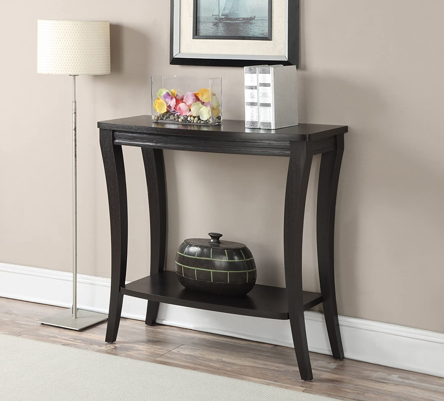 Amazon Convenience Concepts Newport Console Table with Shelf