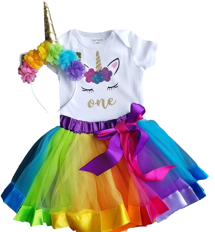 316f04235 Amazon.com: 1st Birthday Outfit Baby Girl Tutu - Unicorn: Clothing