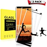 tengsu Screen Protector for Galaxy Note 8 (2-Pack), [Care Fridendly] [3D Touch Compatible] HD Clear and Bubble-Free Tempered Glass Screen Protectors