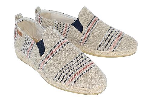 Alpargatas Hombre H30 Rallas Hugo Rojas y Azules H760: Amazon.es: Zapatos y complementos
