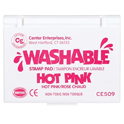 Ready 2 Learn Washable Stamp Pad - Hot Pink - Non-Toxic - Fade Resistant - Decorate Scrapbooks, Posters and Cards: Toys & Games