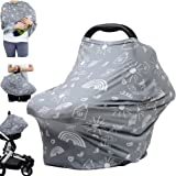 Carseat Canopy Breastfeeding Nursing Cover - Multi Use Infant Stroller Cover, Car Seat Covers for Babies, Nursing Scarf…