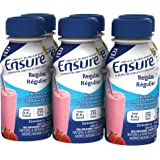 Ensure Regular, Meal Replacement Shake, Complete Balanced Nutrition, Strawberry, 6 x 235 mL, 9.4-g Protein Drink