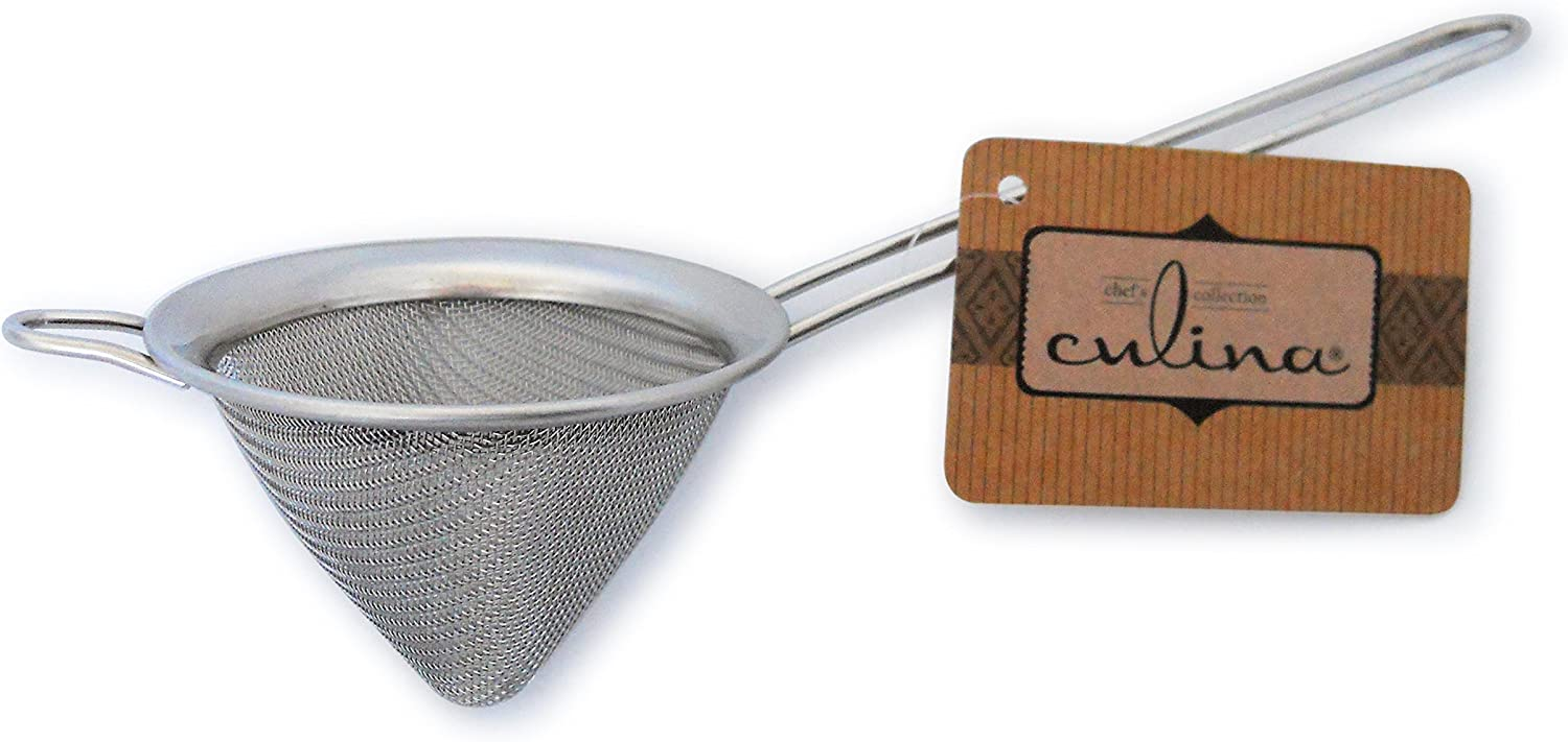 """Culina 3"""" Conical Mesh Strainer. Stainless Steel Chinois"""