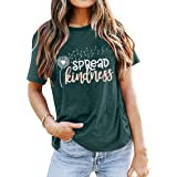 MYHALF Dandelion T Shirt Women Be Kind Shirts Funny Graphic Tees Casual Inspirational Tee Tops