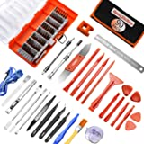 Electronic Repair Tool Kit,90 in 1 Precision Magnetic Screwdriver Set for Fix Iphone,Ipad,Cell Phone,Computer,PC,MacBook,Tablet,Watch - Replace Screen Battery Professional Open Pry Tools Kits DIY (Color: 90pcs+extra Accessory)