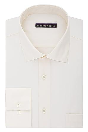 """1b904eada5ff Geoffrey Beene Men's Regular Fit Sateen Solid Dress Shirt, Almond,  14.5"""" Neck 32"""""""