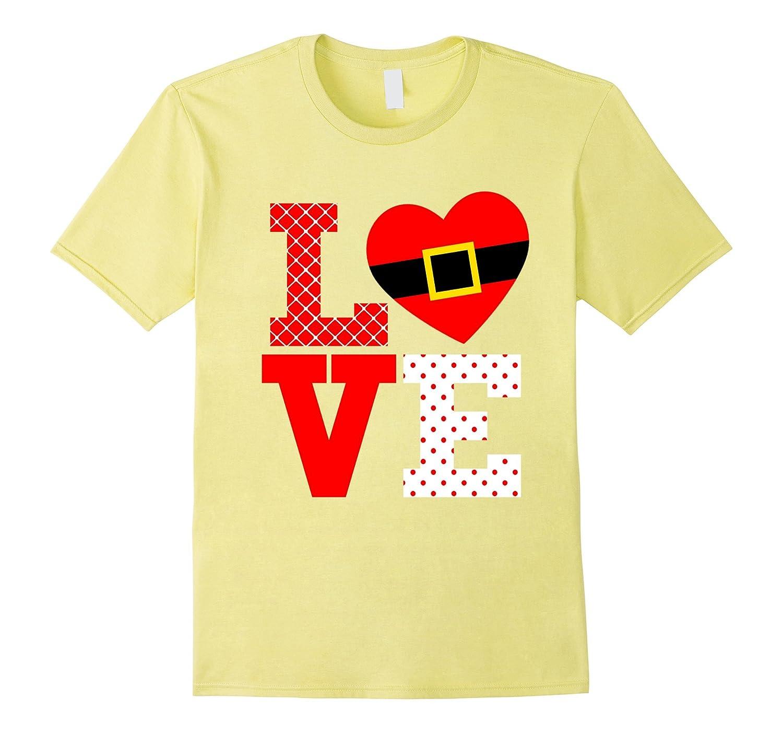 Love Santa Christmas Gift Belt Shirt for Stocking Stuffer