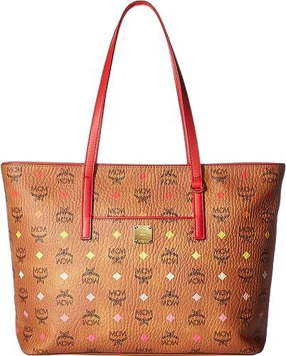 e1a232c4813f MCM Womens Anya Spektrum Visetos Shopper Medium Spectrum Diamond Cognac One  Size  Handbags  Amazon.com