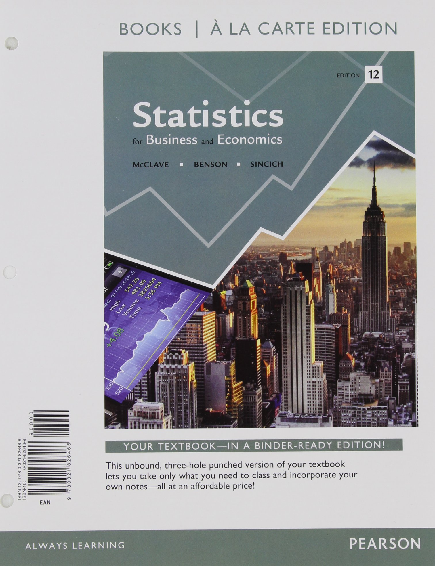 Statistics for business and economics student value edition 12th statistics for business and economics student value edition 12th edition james t mcclave p george benson terry t sincich 9780321826466 books fandeluxe Choice Image