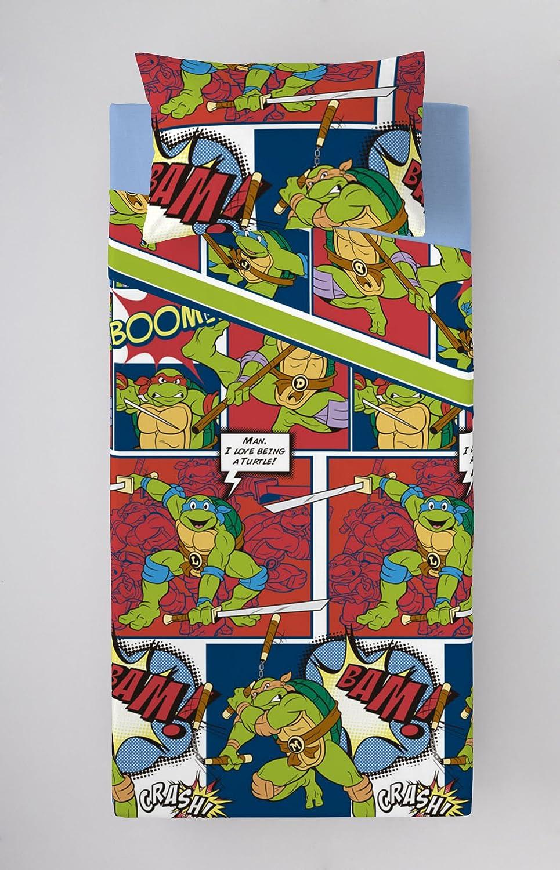 Juego DE SÁBANAS 90 CM Cowabunga Tortugas Ninja 3 Piezas (160X270cm)