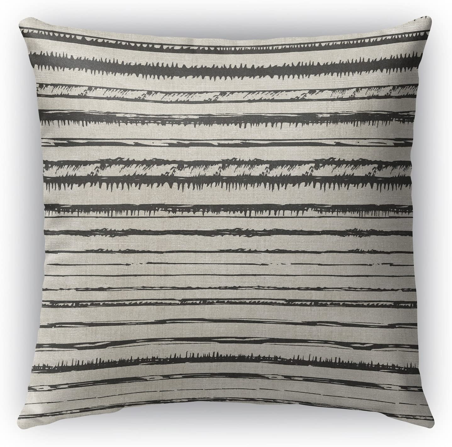 Beige//Black TELAVC1490OD26 KAVKA Designs Bolzano Indoor-Outdoor Pillow, - Encompass Collection Size: 26X26X6 -
