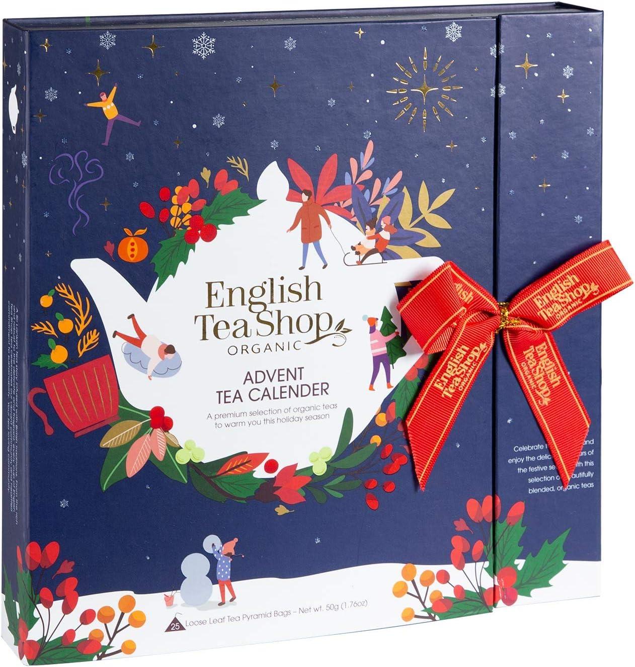 English Tea Shop Book Style Christmas Night Advent Calendar | 25 Pyramid Tea  Bags | 50g: Amazon.co.uk: Grocery