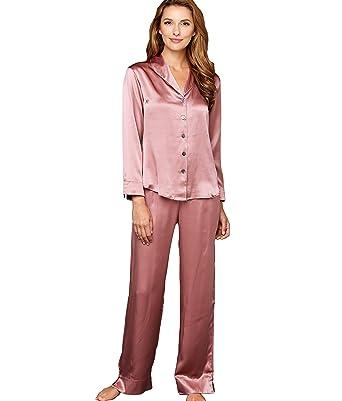 Julianna Rae Natalya Women's 100% Silk Pajamas, Petite at Amazon ...