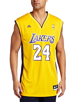 Los Angeles Lakers NBA adidas Mens Replica Jersey L Gold  Amazon.co ... d8f4a953d