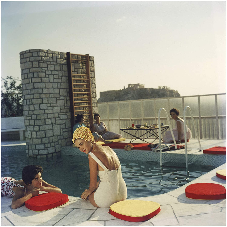 Slim Aarons Penthouse Pool 60 Cm Cm X 60 Cm Cm Acrylic Glass