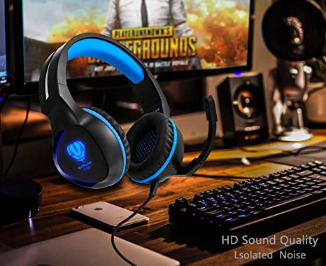 Amazon.com: Gaming Headset para Xbox One, PS4 auriculares ...