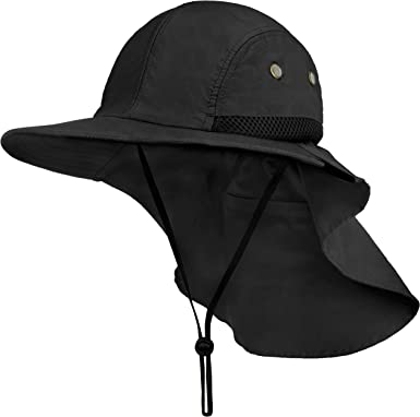 Jungle Fishing Hat Cap Face Protector Neck Cover Wide Brim Sun Protection Unisex