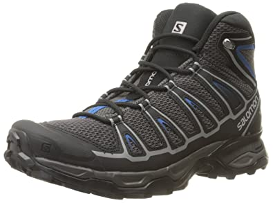 Salomon Men's X Ultra Mid Aero Hiking Boot, Autobahn/Black/Deep Water,