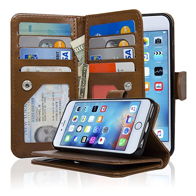 iPhone 6 Plus [5.5 Inch] 3 Capas Funda Tipo Cartera con ...