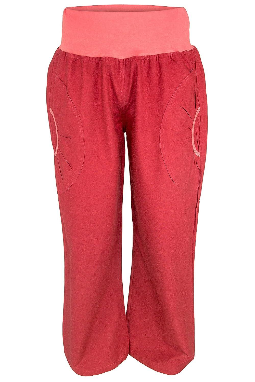 ufash Yogahose aus Baumwolle, Pumphose, mit Stretch-Bund und zwei praktischen Taschen - diverse Größen & Designs