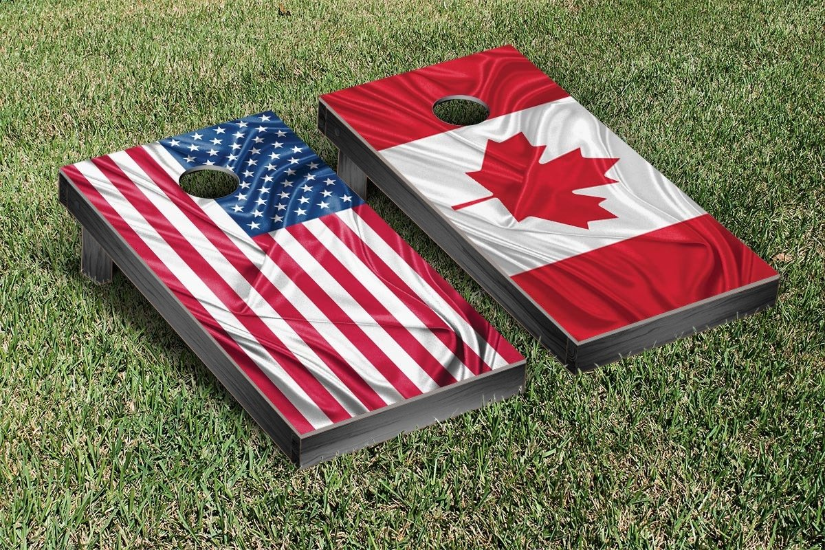 Rippled Flag Cornhole Game Set Country: US and Canada