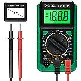 Q-MING Multímetro digital multifunción, mini multímetro digital de bolsillo con retención de datos y luz de fondo…