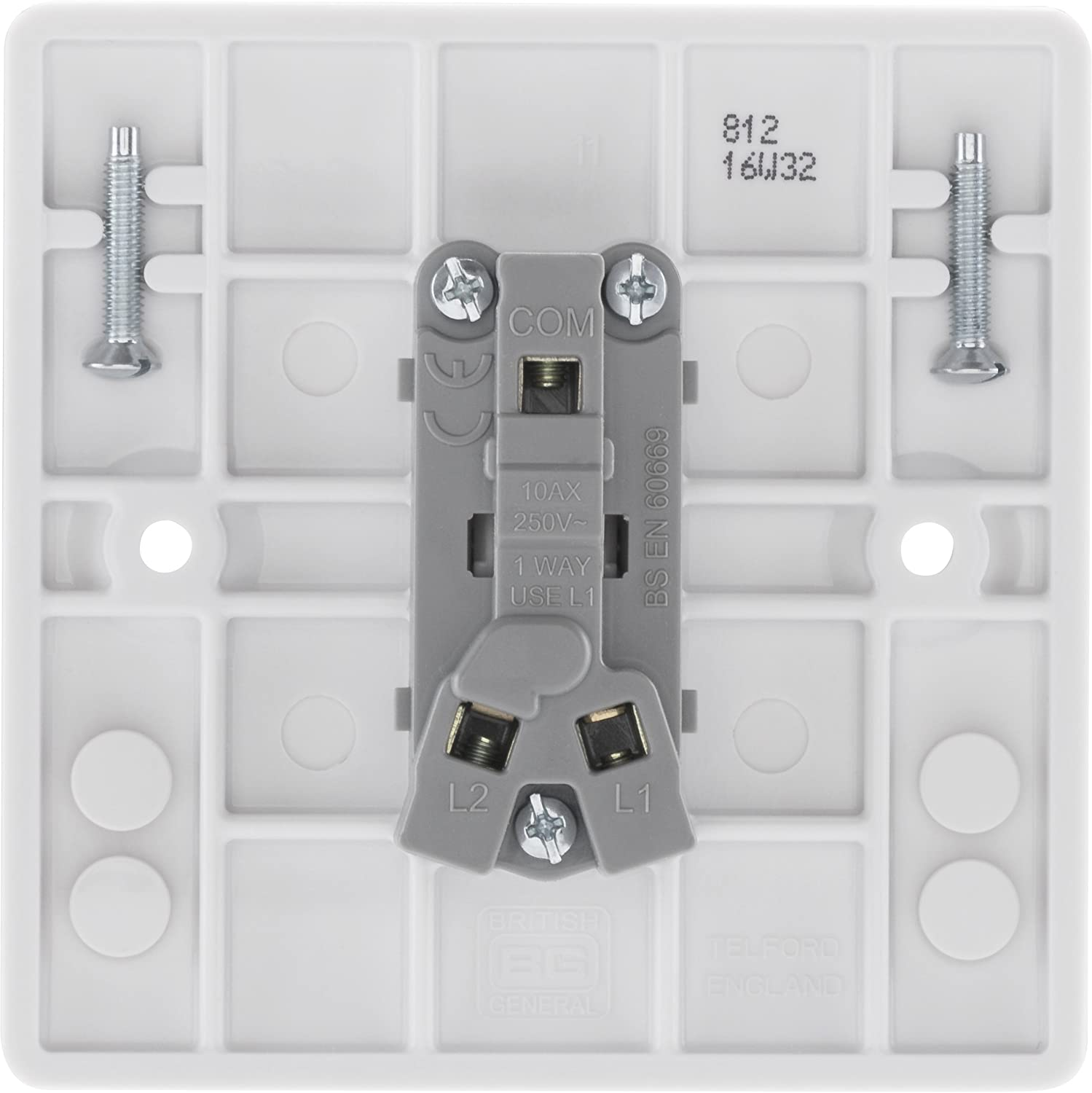 Bg Electrical 812 10ax Single 2 Way Light Switch White Amazonco Wiring Up A Double Dimmer Uk Diy Tools