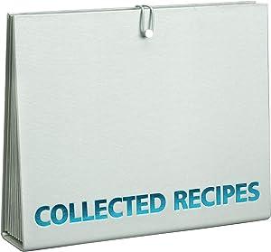 Meadowsweet Kitchens Accordion File Recipe Organizer - Turquoise & Gray
