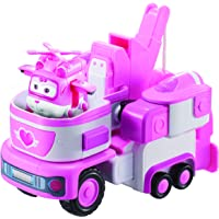 "Super Wings - Dizzy's Rescue Tow | Transforming Toy Vehicle Set | Includes Transform-a-Bot Dizzy Figure | 2"" Scale"
