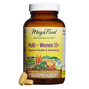 megafood multi for women 55 a balanced real food multivitamin 120 tablets