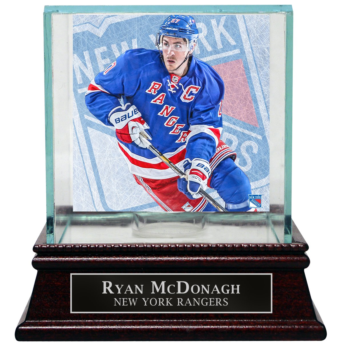 Amazon.com  Ryan McDonagh New York Rangers Puck Glass Display Case With  Nameplate  Sports Collectibles 04a1f5654
