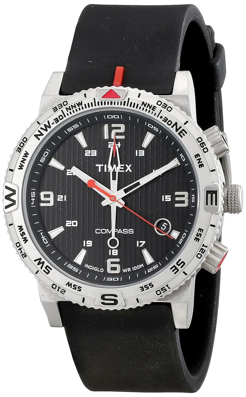 b0c790acb40f Amazon.com  Timex Men s T2P285 Intelligent Quartz Adventure Series  Stainless Steel Watch with Black Band  Timex  Watches
