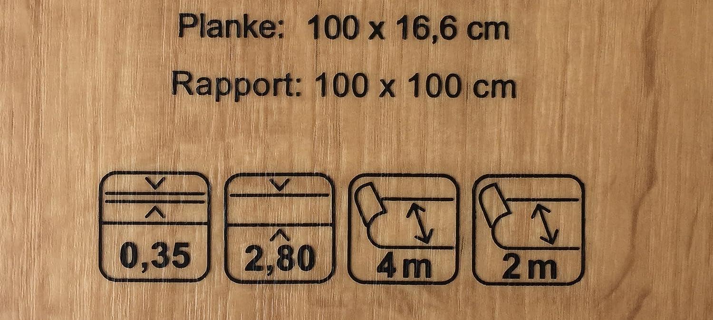 PVC-Bodenbelag XL Holzdielenoptik Hell Pflegeleichte /& rutschhemmende PVC Planken Vinylboden in 4m Breite /& 2,5m L/änge Stark strapazierf/ähiger Fu/ßboden-Belag Fu/ßbodenheizung geeignet