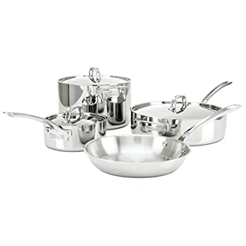 Viking 3 Ply Stainless Steel Cookware Set, 7 Piece