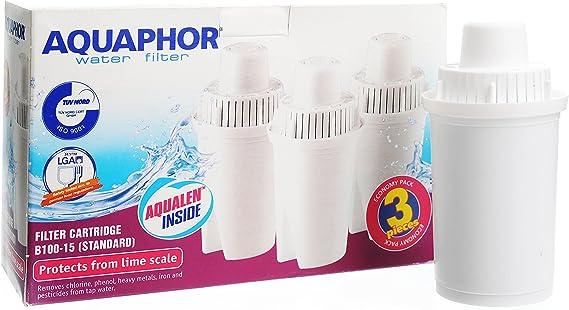 3 x Filtro de agua de repuesto Cartucho B100 – 15 de Aquaphor ...