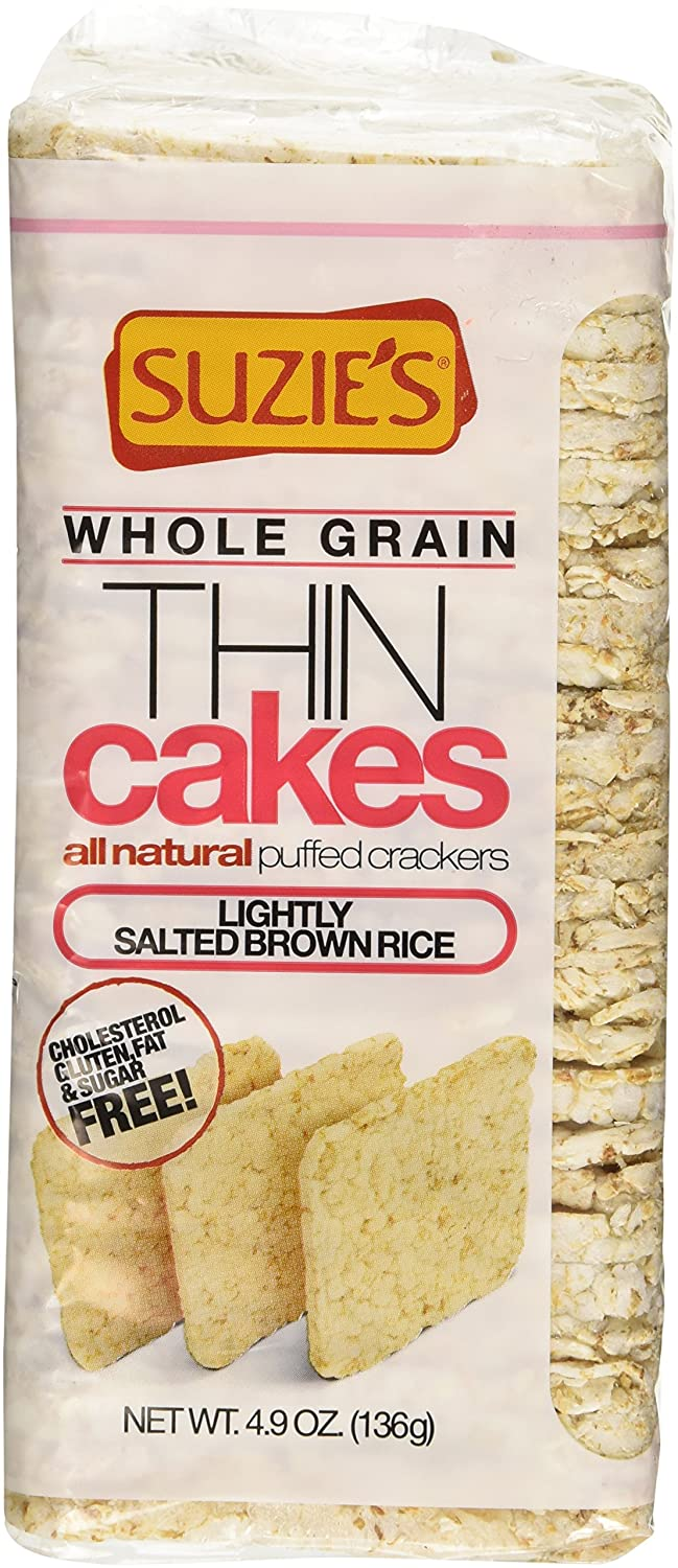 Suzie's, Thin Cakes, Whole Grain Puffed Crackers, Lightly Salted Brown Rice Flavor - 4.9oz Bag