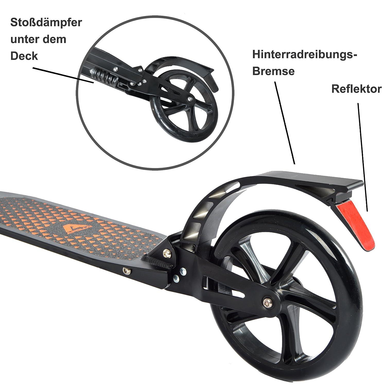 Apollo XXL Wheel Scooter 200 mm - Spectre Pro es un City Scooter suspensión Doble, City Roller XXL Plegable y Ajustable en Altura, Grande Kick+B3 ...