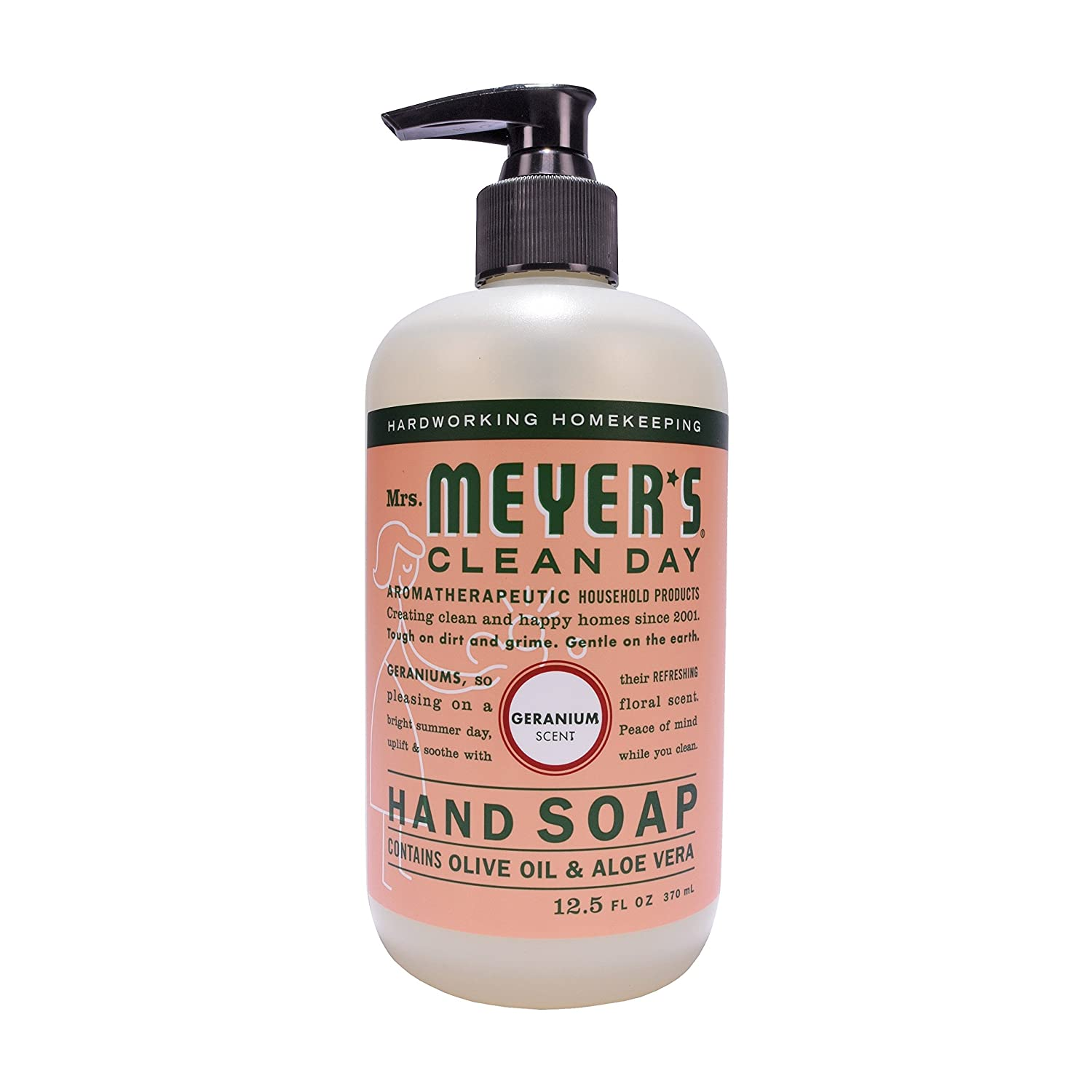 Mrs Meyers Hand Soap Geranium 12.5 Ounce Pump (370ml) Mrs. Meyer' S thomaswi