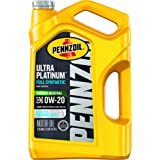 Pennzoil Ultra Platinum Full Synthetic 0W-20 Motor Oil (5-Quart, Pack of 1)