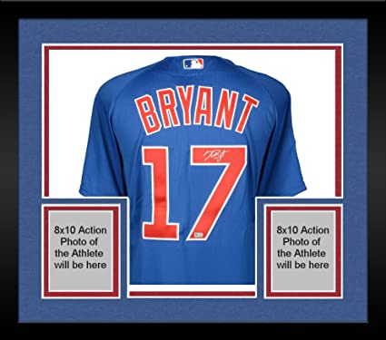 bbe235209 Framed Kris Bryant Chicago Cubs Autographed Blue Authentic Jersey - Fanatics  Authentic Certified - Autographed MLB
