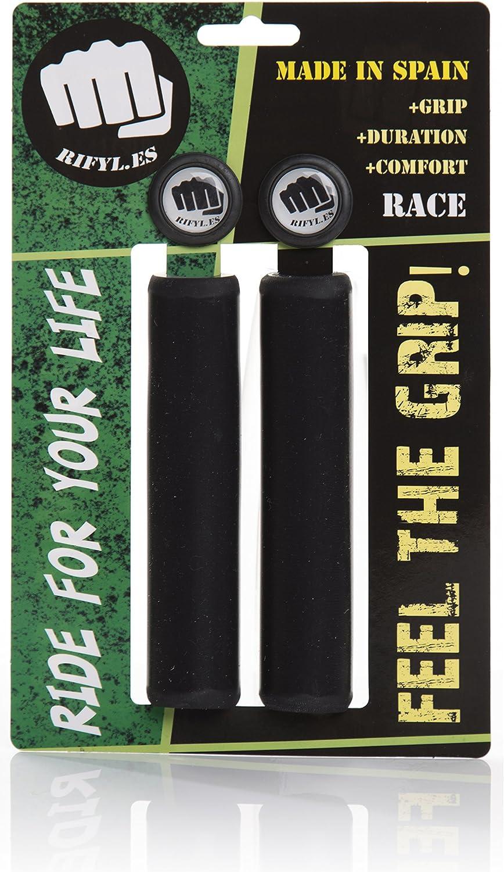 RIFYL (Race) Juego de puños para Bicicleta o Mountain Bike, Color Negro, diámetro 30,5mm: Amazon.es: Deportes y aire libre