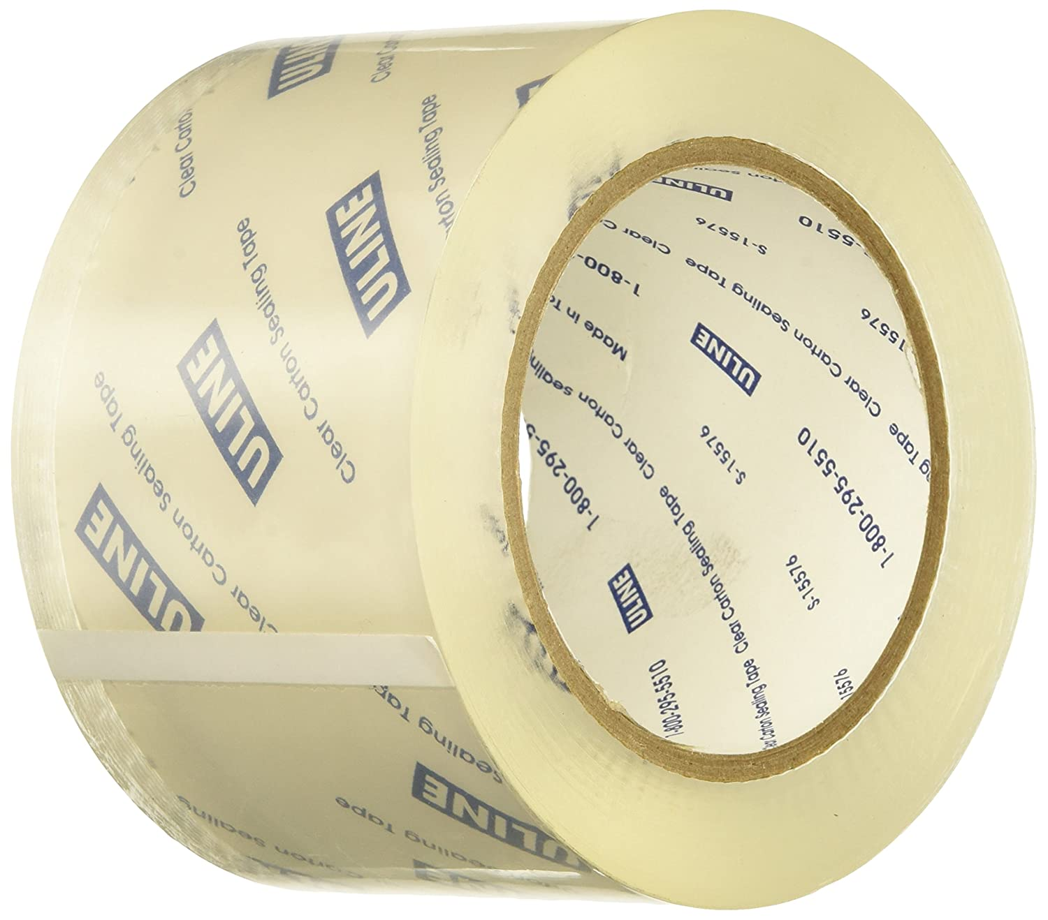 Uline S-1893 Tape Packing and Shipping Clear 3 Inches Wide by 55 Yards Long 2.6 Mil 1 Per Order Manhattan Comfort