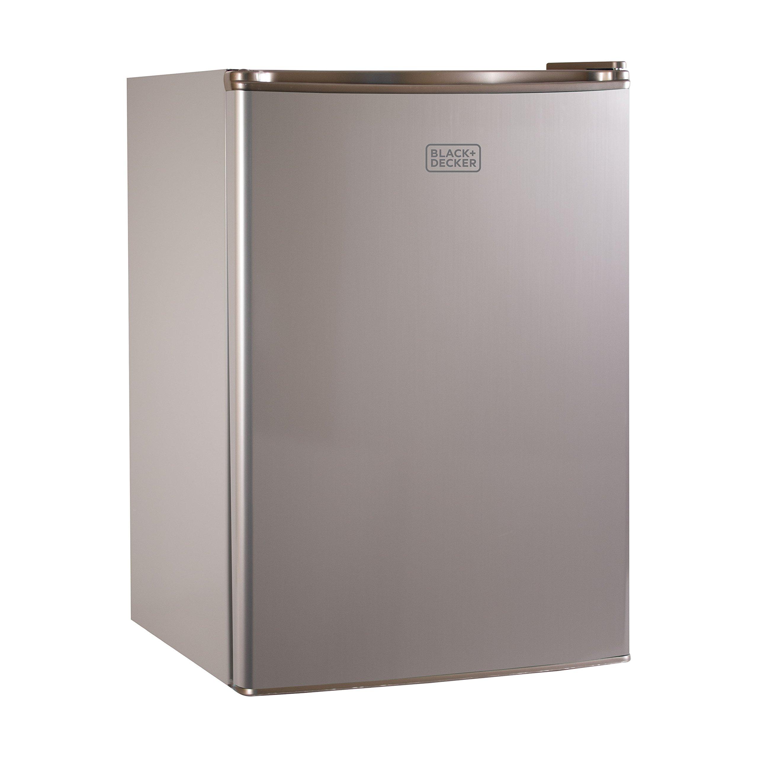 BLACK+DECKER BCRK25V Compact Refrigerator Energy Star Single Door Mini Fridge with Freezer, 2.5 Cubic Feet, VCM by BLACK+DECKER