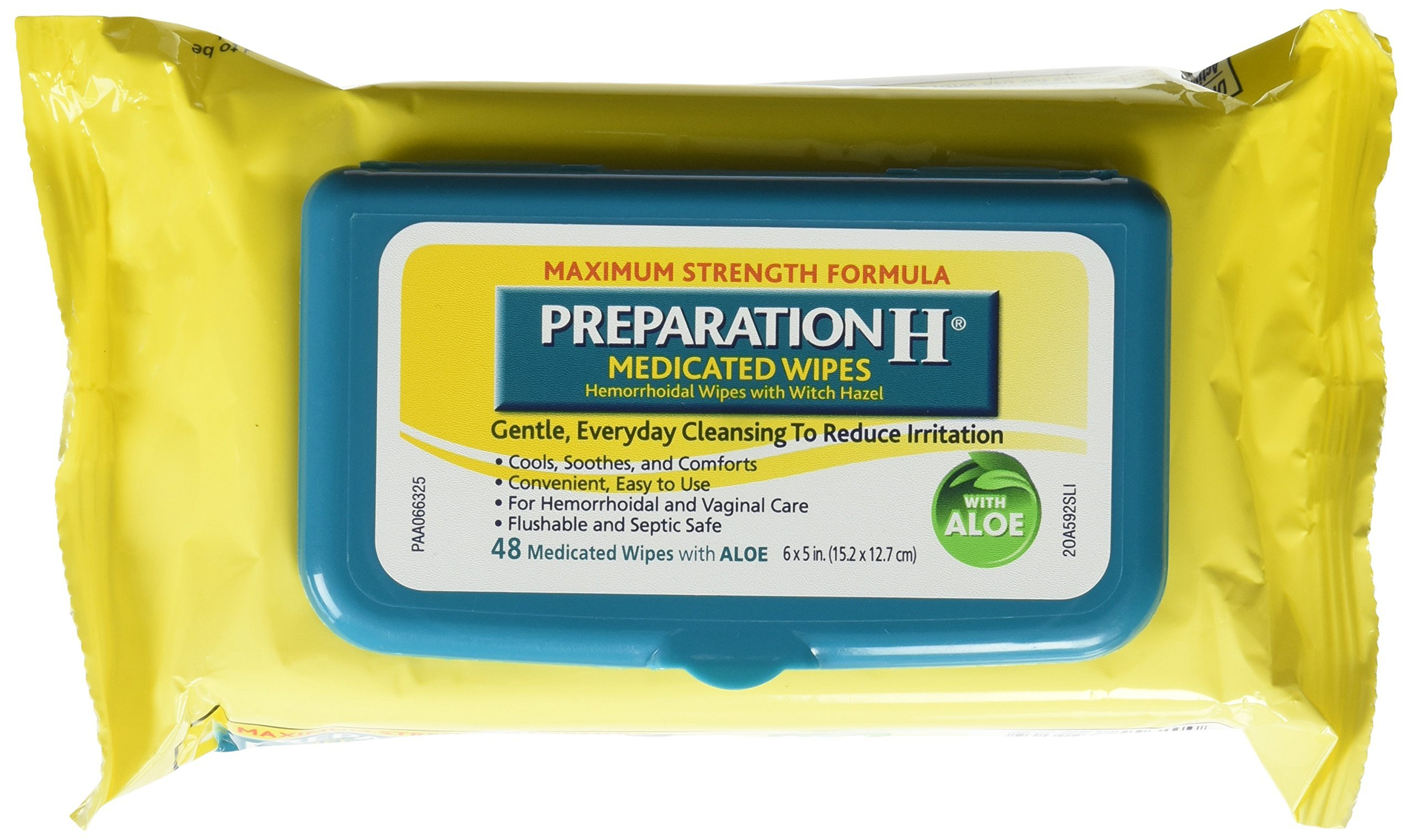 Preparation H Medicated Wipes 48 Ea (Pack Of 4) by Preparation H