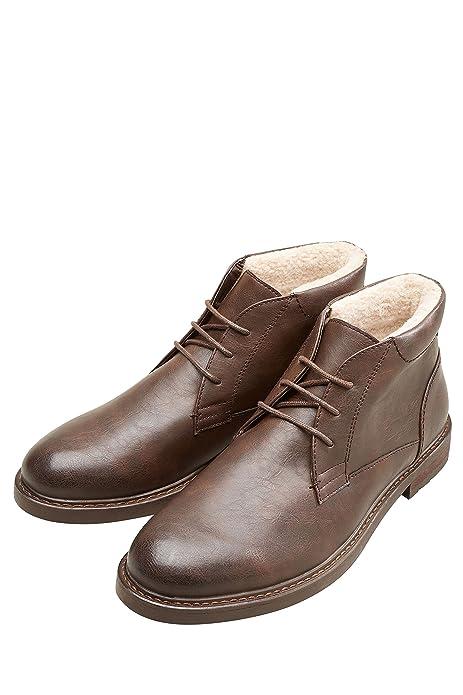 next Hombre Botines Chukka De Borreguito Marrón EU 47: Amazon.es: Zapatos y complementos