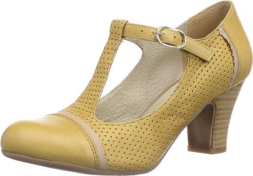 Virus 25526 - Sandalias con Cierre al Tobillo de Cuero Mujer, Color Amarillo, Talla 37: Amazon.es: Zapatos y complementos