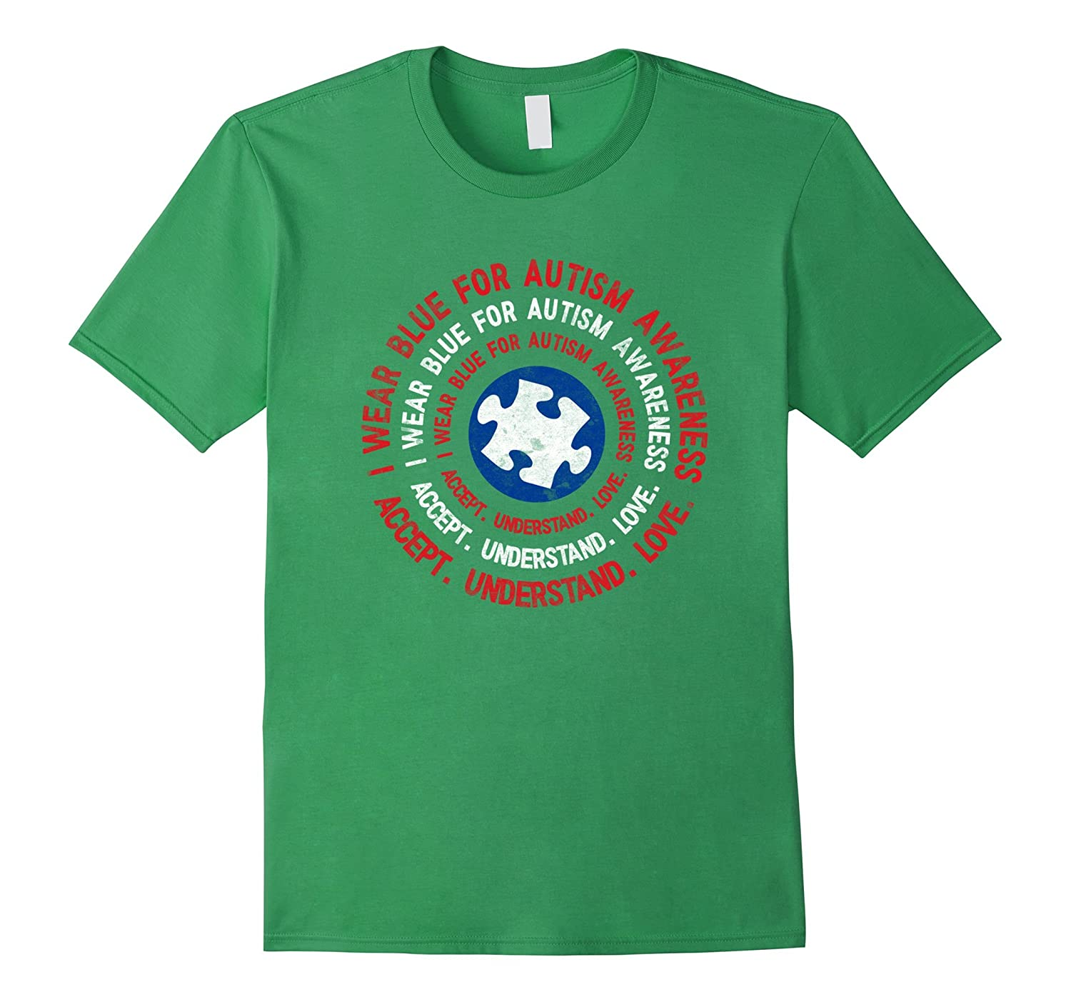 I wear blue for autism awareness superhero style T-shirt