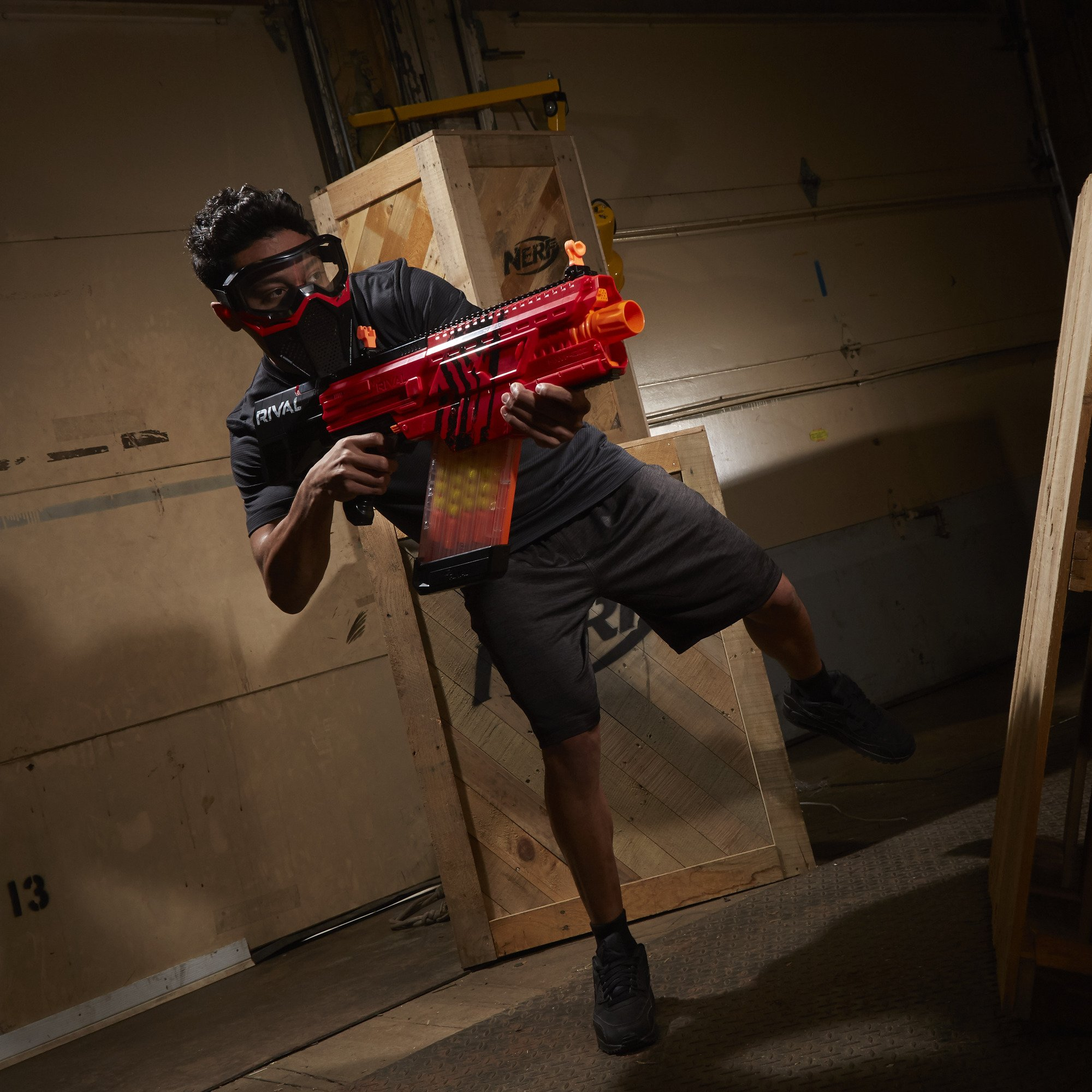 Nerf Rival Khaos MXVI-4000 Blaster (Red) by NERF (Image #14)
