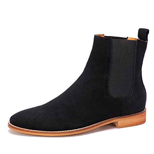 a6836dada1d3 HKLA™ Chelsea Boots for Men Genuine Leather Suede Shoes by Stylish Italian  Design for Formal and Casual Outfits